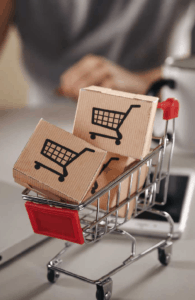 image of shopping cart used in e-commerce software